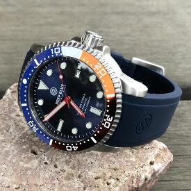 DEEP BLUE(ディープブルー)ダイバーズウォッチ MASTER 1000 II 44MM 330M/30気圧防水 SEIKO 自動巻きムーブメント セラミックべセル ビンテージ ブルーダイル MSTR442PEPS 腕時計