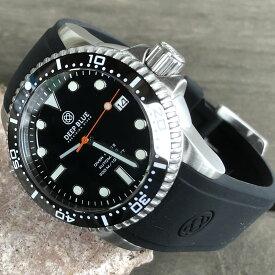 DEEP BLUE(ディープブルー)ダイバーズウォッチ DIVER 1000 II 40MM 330M/30気圧防水 SEIKO 自動巻きムーブメント セラミックべセル オレンジハンズ ブラックダイアル dvr402bkorsec 腕時計