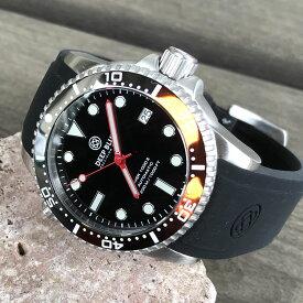 DEEP BLUE(ディープブルー)ダイバーズウォッチ DIVER 1000 II 40MM 330M/30気圧防水 SEIKO 自動巻きムーブメント セラミックべセル ビンテージ ブラックダイアル COKE DVR402COKE 腕時計
