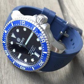DEEP BLUE(ディープブルー)ダイバーズウォッチ MASTER 1000 II 44MM 330M/30気圧防水 SEIKO 自動巻きムーブメント ブルー セラミックべセル ブルーダイアル BLBLSECO 腕時計