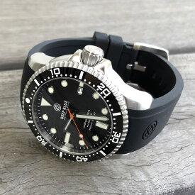 DEEP BLUE(ディープブルー)ダイバーズウォッチ MASTER 1000 II 44MM 330M/30気圧防水 SEIKO 自動巻きムーブメント セラミックべセル ブラック ORSECO 腕時計