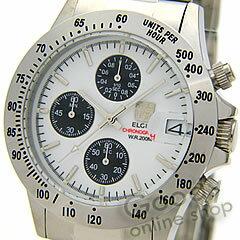 【正規品】ELGIN(エルジン)FK1184S-Wクロノグラフダイバーズウォッチ20気圧防水メンズ腕時計