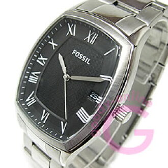 FOSSIL ( fossil ) FS4741 ANSEL / Ansel tonneau metal belt black casual men's watch
