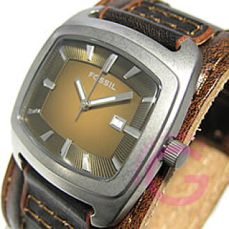 FOSSIL(fosshiru)JR9156皮革皮带休闲人表手表