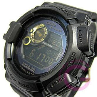 卡西欧 g-休克 (卡西欧 g-休克) G-9300 GB-1/G 9300 GB-1 疯子黑色 x 黄金系列男士艰难太阳能手表