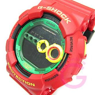 卡西欧 g-休克 (卡西欧 G-休克) GD-100RF-4/GD 100RF 4 圆滚滚红色男装手表