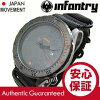 INFANTRY ( infantry ) IN-037-ORBK black out / all black orange bezel x black ZULU belt military watches and mens watches