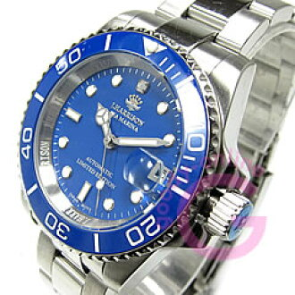 J.HARRISON John ( Harrison ) H-019SBL automatic-winding Japan movement with ceramic bezel diamond index blue mens watch