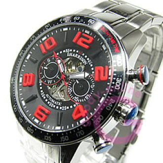 自动拧J.HARRISON(乔恩哈里森)JH-020BR,并且是男子3D索引多功能日历红表手表