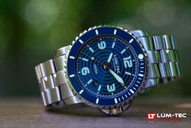 LUM-TEC/LUMTEC (ルミテック) 350M-2 ブルー 43MMケース 316Lステンレス 自動巻き スイス製 Sellita SW200ムーブメント採用 350M防水 ダイバーズウォッチ メンズウォッチ 腕時計