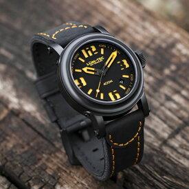 【世界限定ウォッチ】LUM-TEC (ルミテック) Abyss 400m-4 42mm 自動巻き Miyota 9015ムーブメント採用 チタンカーバイドPVD メンズウォッチ 腕時計