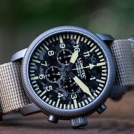 【500本限定生産】 LUM-TEC/LUMTEC ルミテック COMBAT B44 クロノグラフ コンバット ミヨタ 日本製ムーブメント ミリタリーウォッチ カモフラージュ ZULU/NATOストラップ メンズ 腕時計