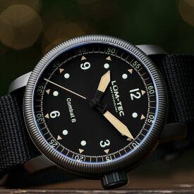 【500本限定生産】 LUM-TEC/LUMTEC ルミテック COMBAT B50 コンバット Swiss Ronda 515.12H スイス製 クォーツムーブメント ミリタリーウォッチ ZULU/NATOストラップ メンズ 腕時計