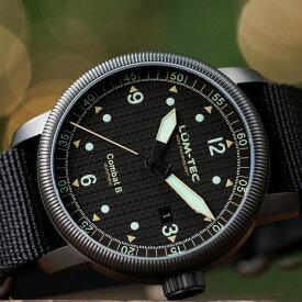 【500本限定生産】 LUM-TEC/LUMTEC ルミテック COMBAT B51 コンバット Swiss Ronda R150 スイス製 自動巻きムーブメント ミリタリーウォッチ ZULU/NATOストラップ メンズ 腕時計