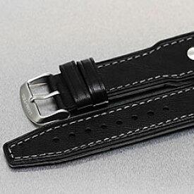 LUM-TEC (ルミテック) 24mm対応 レザーベルト SSバックル グレーステッチ 純正 替えベルト 腕時計
