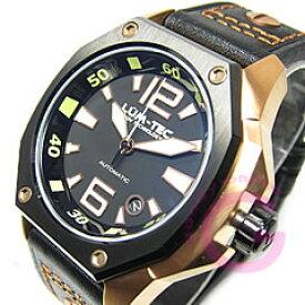 LUM-TEC/LUMTEC(ルミテック) V6 Vシリーズ 自動巻き レザーベルト ツートーン ローズゴールド メンズウォッチ 腕時計