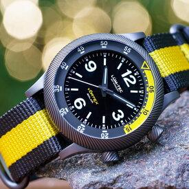 LUM-TEC/LUMTEC ルミテック VORTEX SOLAR D2 ブラック×イエロー 日本製 ソーラークォーツムーブメント搭載/VS42A movement ミリタリーウォッチ ZULU/NATOストラップ メンズ 腕時計
