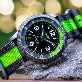 LUM-TEC/LUMTEC ルミテック VORTEX SOLAR D5 ブラック×グリーン 日本製 ソーラークォーツムーブメント搭載/VS42A movement ミリタリーウォッチ ZULU/NATOストラップ メンズ 腕時計