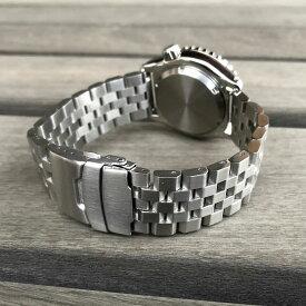 LEVEL7 5連 無垢ステンレスベルト 22MM JL5LINK-SS ブラッシュ/つや消し セーフティ付きDバックル シルバー 替えベルト 腕時計用 LEVEL7