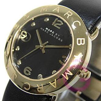 马克,马克 · 雅各布标记由 Marc Jacobs) 艾米和艾米 MBM1154 轮皮革带黑色女士手表手表