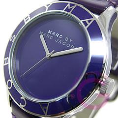 MARC BY MARC JACOBS (マーク バイ マークジェイコブス) MBM1168 ブレード ラウンド レザーベルト パープル レディースウォッチ 腕時計 【あす楽対応】