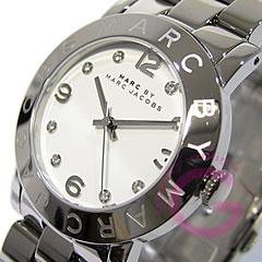 MARC BY MARC JACOBS (マーク バイ マークジェイコブス) Amy/アミー MBM3054 ラウンド メタルベルト シルバー レディースウォッチ 腕時計