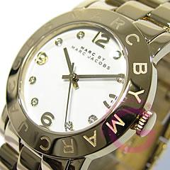 MARC BY MARC JACOBS (マーク バイ マークジェイコブス) Amy/アミー MBM3056 ラウンド メタルベルト ゴールド レディースウォッチ 腕時計