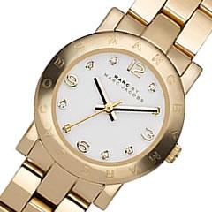 MARC BY MARC JACOBS (マーク バイ マークジェイコブス) MBM3057 Small Amy/スモール アミー メタルベルト ゴールド レディースウォッチ 腕時計