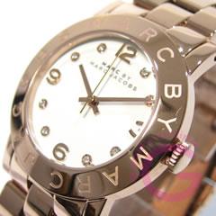 MARC BY MARC JACOBS (マーク バイ マークジェイコブス) Amy/アミー MBM3077 ラウンド メタルベルト ピンクゴールド レディースウォッチ 腕時計