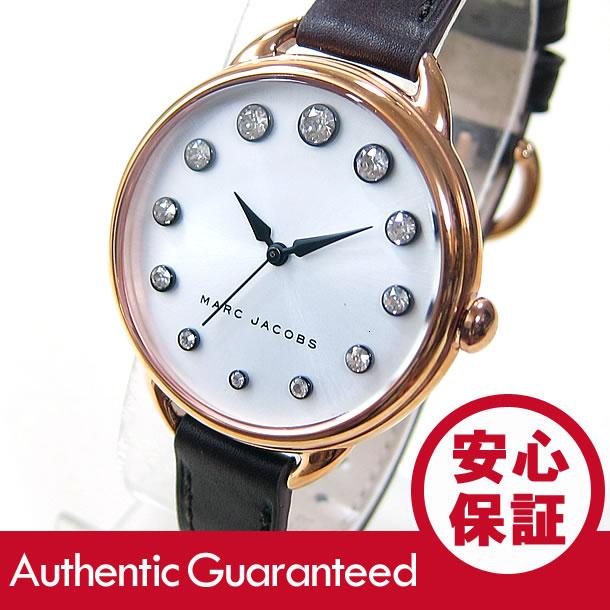 MARC BY MARC JACOBS (マーク バイ マークジェイコブス) MJ1478 BETTY/ベティ ストーン装飾 レザーベルト ブラウン レディースウォッチ 腕時計 【あす楽対応】