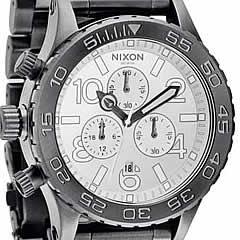 NIXON(ニクソン) THE 42-20 Chrono SS A037-486/A037486 ガンメタル クロノグラフ メンズ 腕時計 【あす楽対応】