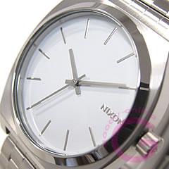 NIXON THE TIME TELLER (ニクソン タイムテラー) A045-100/A045100 SS ホワイト メンズウォッチ 腕時計