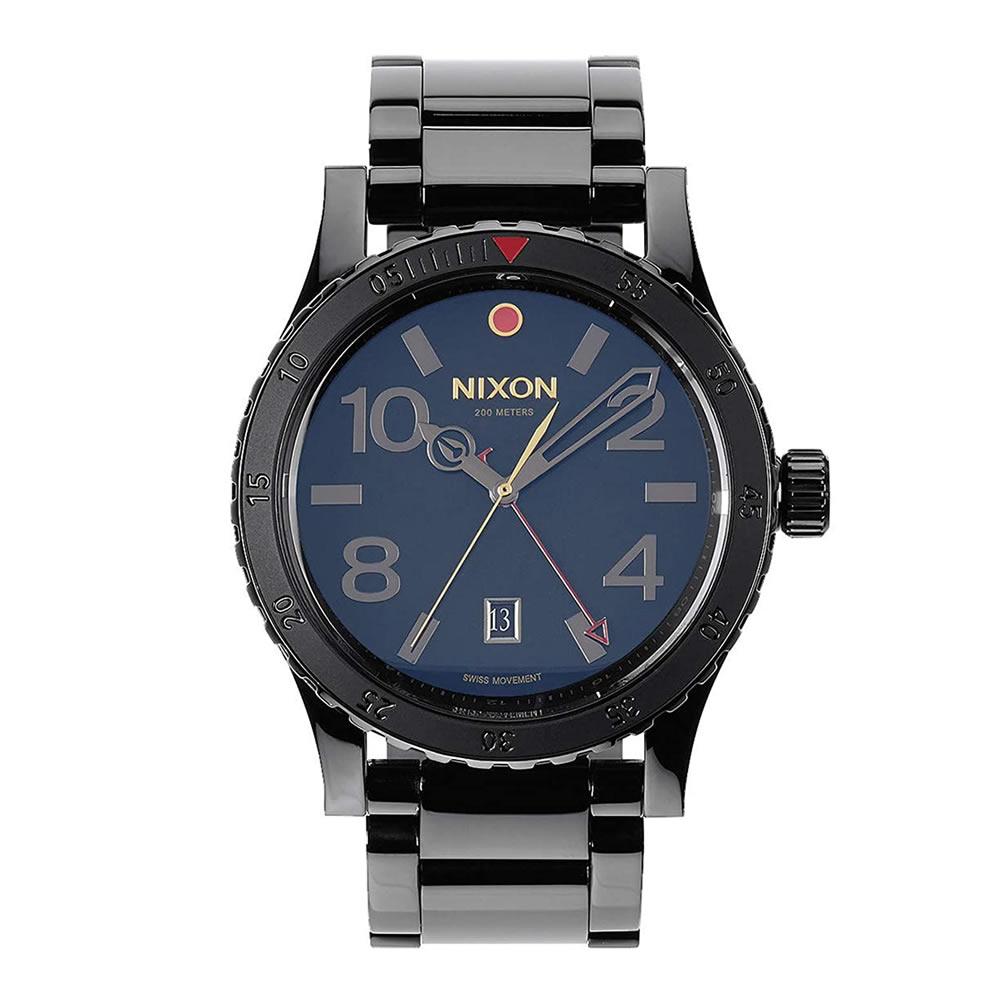 NIXON (ニクソン) A277-1883/A2771883 DIPLOMAT SS ALL BLACK POLISHED/GOLD ディプロマット GMT オールブラック ポリッシュ/ゴールド メンズウォッチ 腕時計 【あす楽対応】