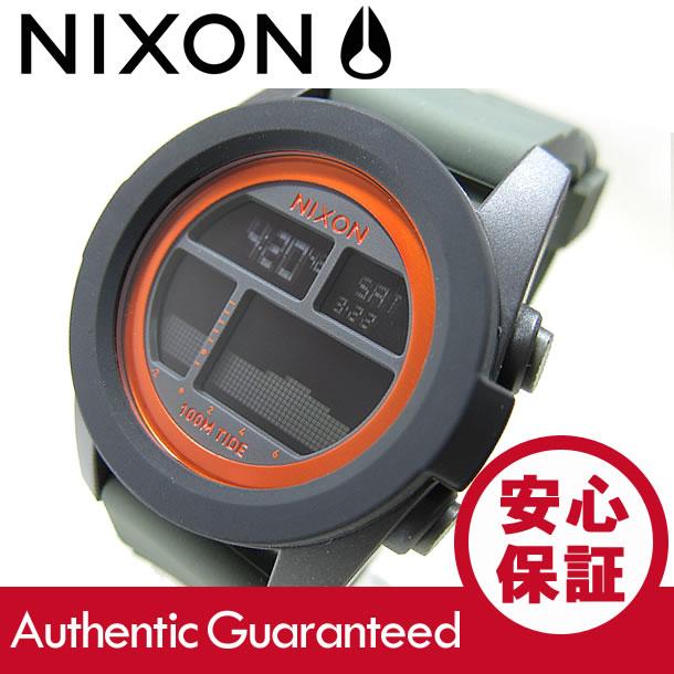 NIXON (ニクソン) A282-2050/A2822050 THE UNIT TIDE/ユニットタイド ブラック×サープラス×オレンジ メンズウォッチ 腕時計