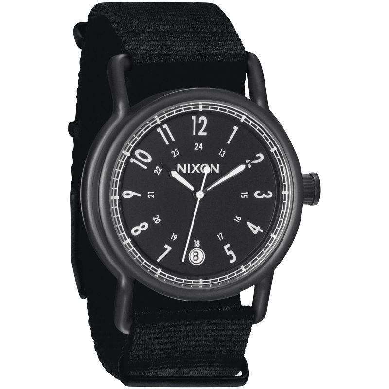 NIXON (ニクソン) A322-1148/A3221148 THE AXE/アックス ナイロンベルト ブラック×ホワイト メンズウォッチ 腕時計【あす楽対応】