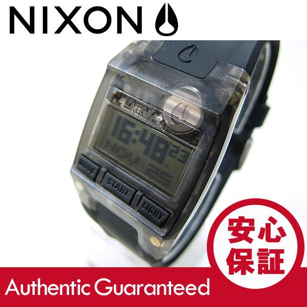 NIXON (ニクソン) A336-001/A336001 Comp S/コンプS クロノグラフ ラバーベルト ブラック レディースウォッチ 腕時計