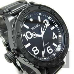 NIXON THE 51-30 TI(ニクソン) A351-001/A351001 300m防水 チタニウム素材 Ronda 513AIG6ムーブメント搭載 オールブラック メンズウォッチウォッチ 腕時計 【あす楽対応】