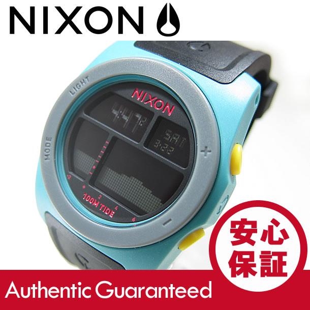 NIXON (ニクソン) A385-2004/A3852004 THE RHYTHM/リズム デジタル シーフォーム×ブラック×イエロー ラバーベルト メンズウォッチ 腕時計