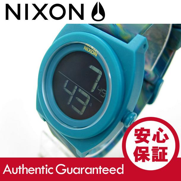 NIXON TIME TELLER DIGE (ニクソン タイムテラー デジ) A417-1610/A4171610 グリーン マーブル ラバーベルト ユニセックスウォッチ 腕時計