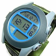 NIXON(ニクソン) BAJA バハ デジタル 腕時計 A489-1376/A4891376 ナイロンベルト グレー×ブルー メンズウォッチ