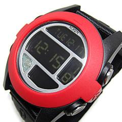 NIXON(ニクソン) BAJA バハ デジタル 腕時計 A489-760/A489760 ナイロンベルト オールブラック×レッド メンズウォッチ