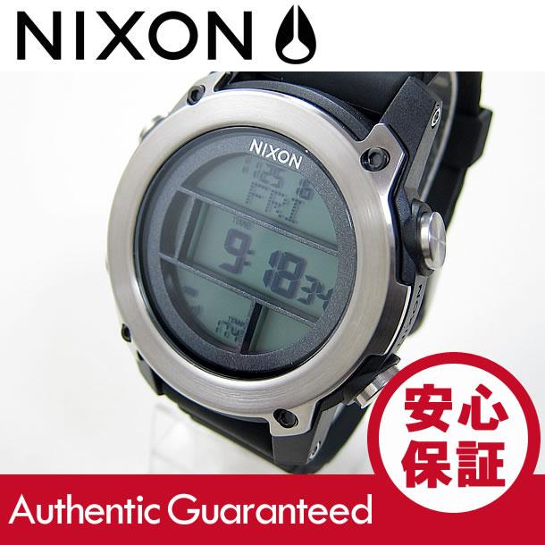 NIXON (ニクソン) A962-000/A962000 THE UNIT DIVE/ユニット ダイブ クロノグラフ ラバーベルト ブラック×シルバー メンズウォッチ 腕時計