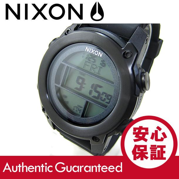 NIXON (ニクソン) A962-001/A962001 THE UNIT DIVE/ユニット ダイブ クロノグラフ ラバーベルト ブラック メンズウォッチ 腕時計