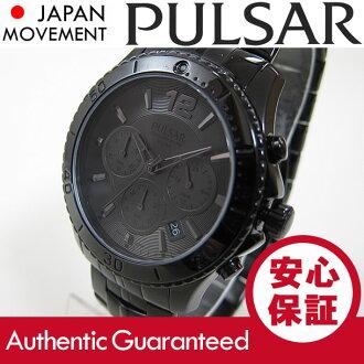 (脉冲星) 脉冲星计时 PT3293 黑色精工美国 / 精工美国男装手表
