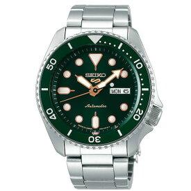 SEIKO5 (セイコー)srpd63k1 自動巻き ダイバーズスタイル 100m防水 グリーンダイアル ステンレスベルト メンズウォッチ 腕時計
