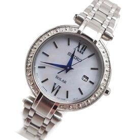 SEIKO(セイコー) SOLAR/ソーラー SUT181 ストーン装飾 シルバー メタルベルト レディースウォッチ 腕時計 【あす楽対応】