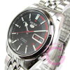 自动拧SEIKO(精工)SEIKO5/精工5 SNK375J1,并且是男子黑色一对型号表手表