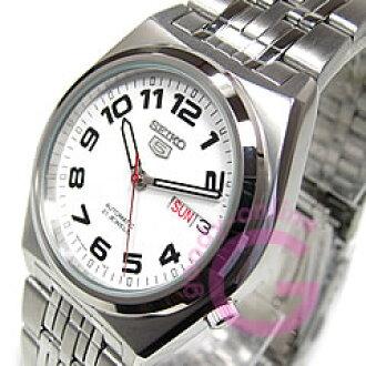 精工 (Seiko) SEIKO5 / 精工 5 自动 SNK653K1 日本运动与白色男装手表