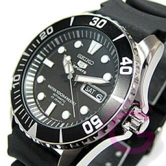 自动拧SEIKO(精工)SEIKO5/精工5体育活动SNZF17J2,并且是男子潜水员的型尿烷皮带表手表