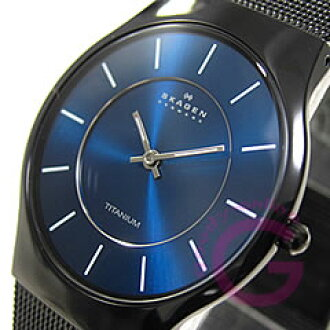 SKAGEN ( Skagen ) 233 LTMN ultra-slim titanium mesh black mens watch